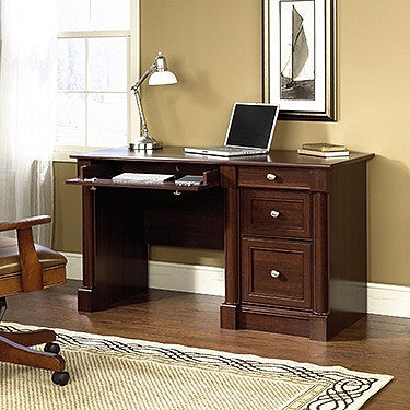"Modern Select Cherry 53"" Single Pedestal Desk"