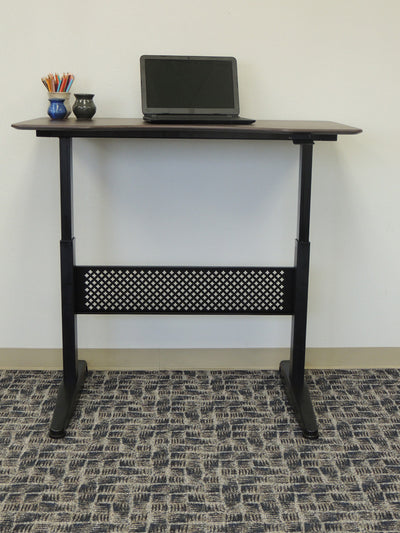 "47"" Gorgeous Mocha Height Adjustable Office Desk"