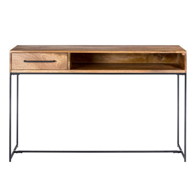 "Radiant 53"" Solid Mango Desk with Drawer"