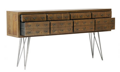 "71"" Reclaimed Elm 8-Drawer Storage Credenza"