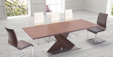 "63 - 87"" Modern Walnut Desk or Conference Table"