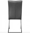 Modern Black Leather Conference / Guest Chair with Chrome Frame (Set of 2)