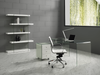 Ultra Chic Glass L-shaped Desk with Included White Cabinet
