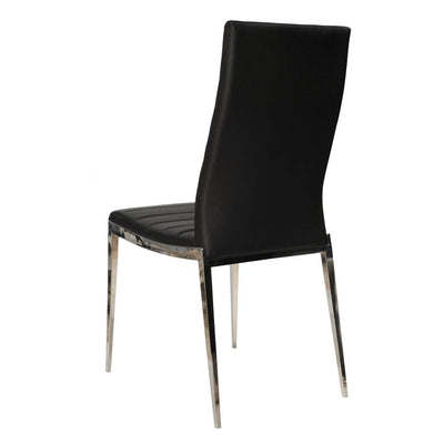 Understated Black Guest or Conference Chairs (Set of 2)