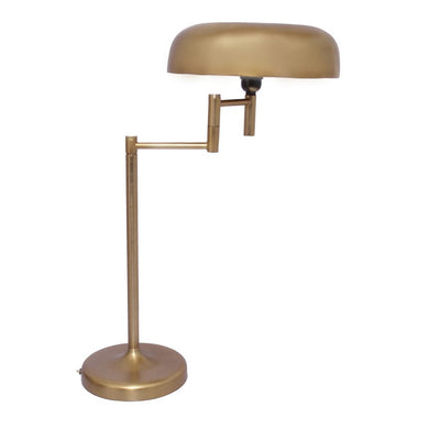 Gold-Finished Aluminum Desk Office Lamp