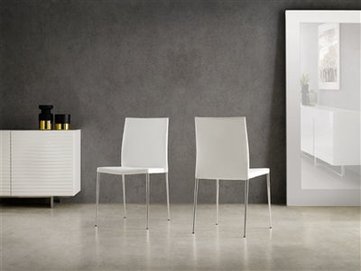 Bright White Eco-Leather Guest or Conference Chair