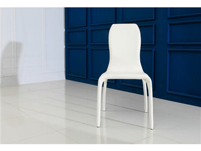 Sleek White Eco-Leather Guest or Conference Chair