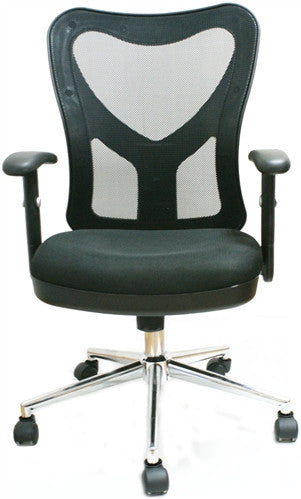 Sleek Modern Task Chair with Chrome Base
