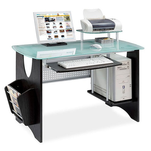 Espresso Workstation with Frosted Tempered Glass