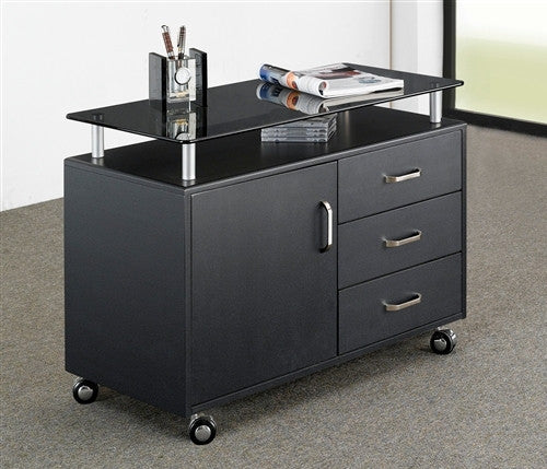 Compact Workstation With Storage And Optional Printer