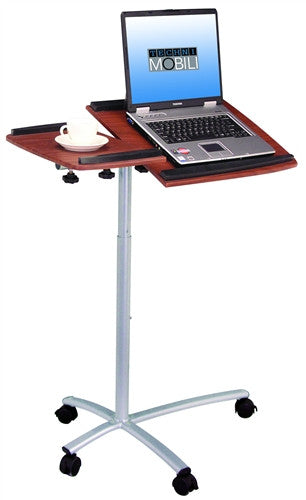 Haller Mobile Laptop Cart in Mahogany or Graphite