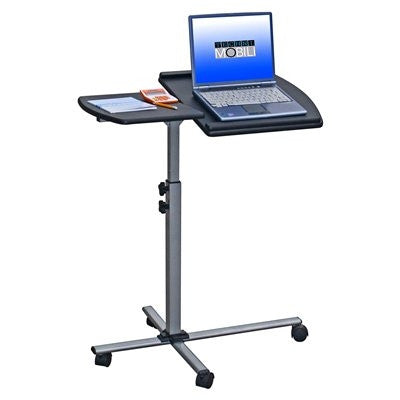 Sturdy Mobile Laptop Workstation in Mahogany or Graphite