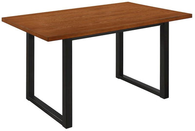 "Distinctive 60"" Antiqued Brown Office Desk w/ Painted Black Legs"