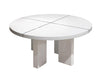 White Lacquer Circular Conference Meeting Table