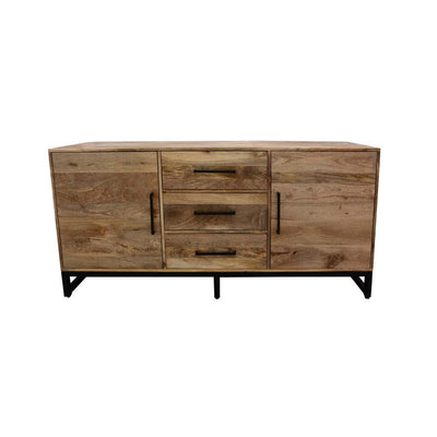 "Modern Solid Wood 60"" Executive Desk with Drawer"