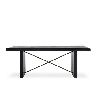 "Modern 80"" Acacia Conference Table or Executive Desk in Ebony"