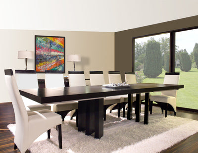 "Modern Extending Wenge Conference Table with Distinctive Legs (94-134"" W)"