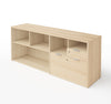 "Modern Maple 71"" Storage Credenza with Drawers"