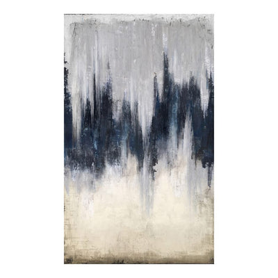 "98"" x 59"" Dramatic Hand-Painted Acrylic Wall Art"