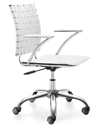"""Criss Cross"" Modern Leatherette Office Chair"