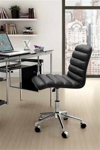 """Admire"" Soft Cushioned Leatherette Office Chair in Black"