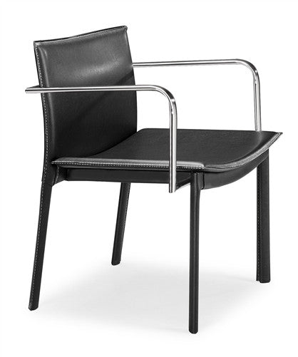 Gekko Modern Leather Conference Chair In Black