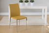 Stackable Saffron Leatherette Guest or Conference Chair (Set of 4)