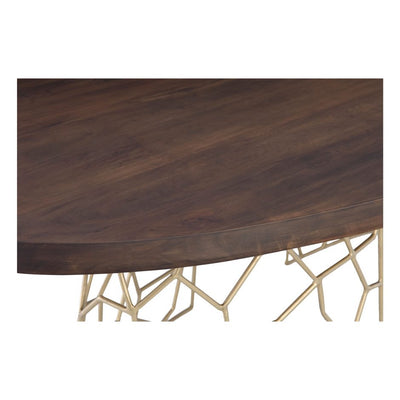 "94"" Acacia Wood Conference Table with Shattered Glass Effect Base"