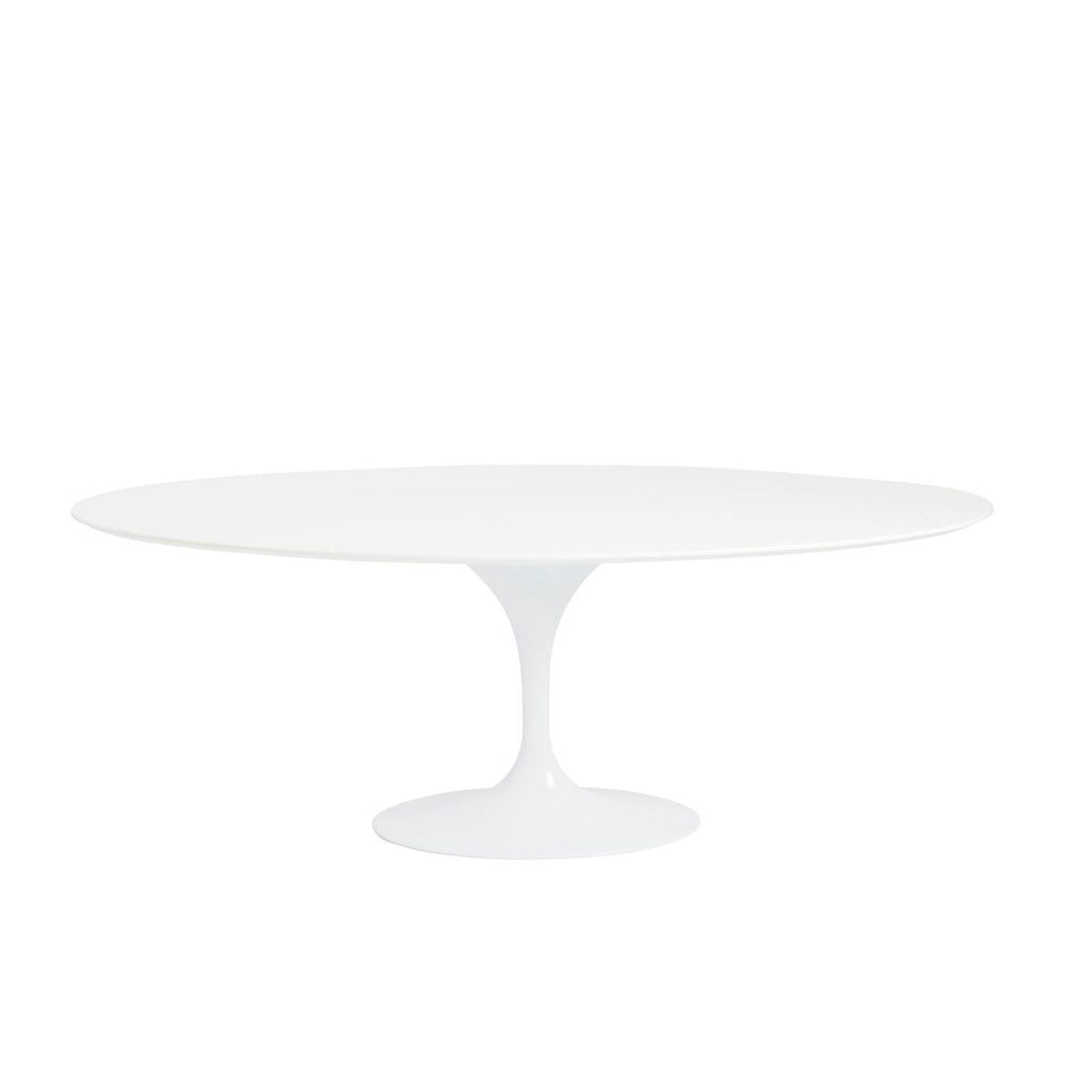 "79"" White Lacquer Oval Conference / Meeting Table"