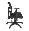 Premium Black Fabric Office Chair with Breathable Mesh Back
