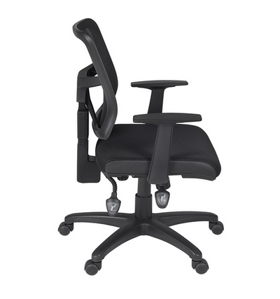 Premium Black Fabric Office Chair with Breathable Mesh Back ...