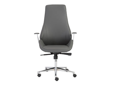 Bergen Collection Modern Gray High Back Office Chair