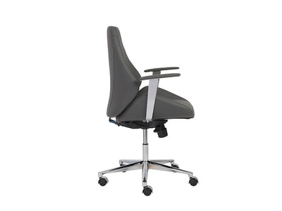Bergen Collection Modern Gray & Chrome Office Chair