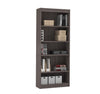 "Premium 72"" Five-Shelf Bookcase in Bark Gray"