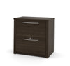 "Modern Dark Chocolate 31"" Lateral File with Brushed Nickel Hardware"
