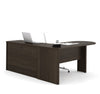 Dark Chocolate Modern L-shaped Desk with Peninsula