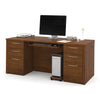 "71"" Double Pedestal Executive Desk in Tuscany Brown"