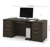 "71"" Double Pedestal Executive Desk in Dark Chocolate"