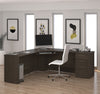 "78"" x 78"" Modern Corner Office Desk in Dark Chocolate"