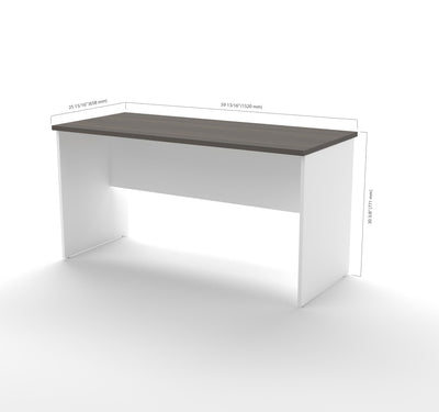 "Modern White & Antigua 63"" Premium Executive Desk"