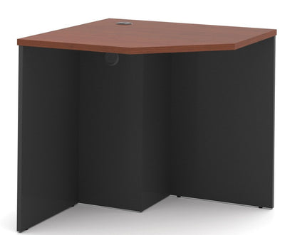 Premium Corner Office Desk in Bordeaux & Graphite Finish
