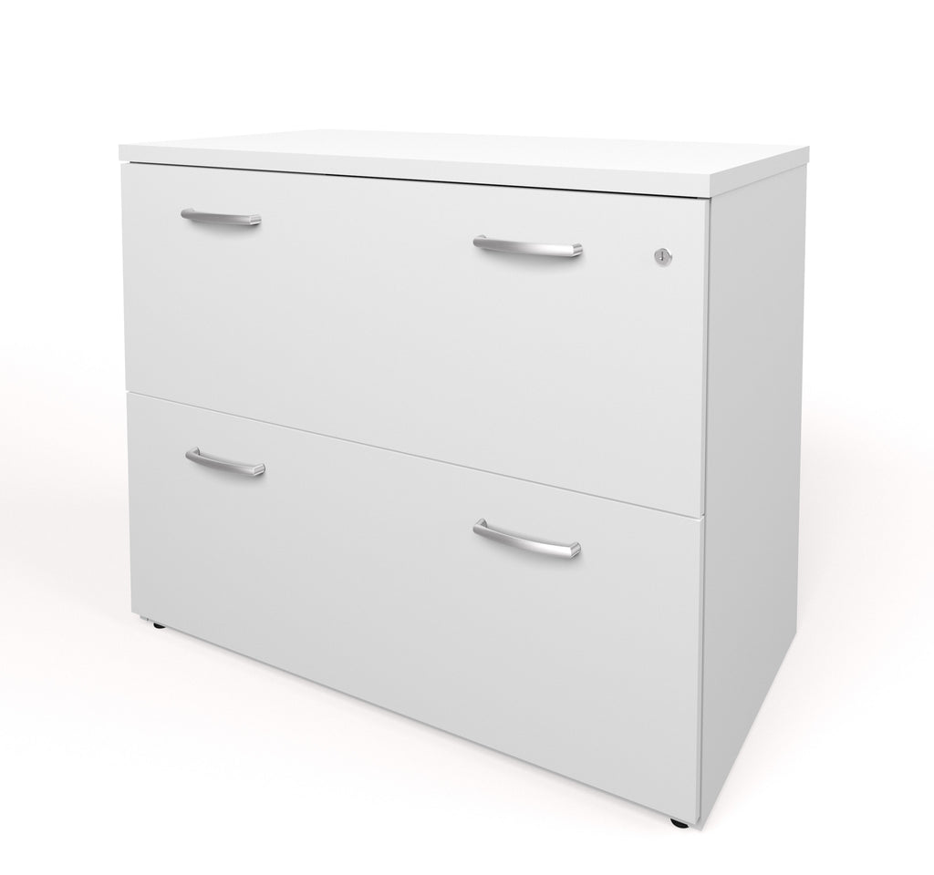 "36"" White Premium Locking Lateral File (Ships Fully Assembled)"