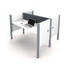 Pro-Biz Face-to-Face Desk in White with Gray Tack Board