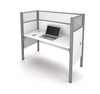 "62"" Pro-Biz Premium Workstation with 55"" Privacy Panel in White"