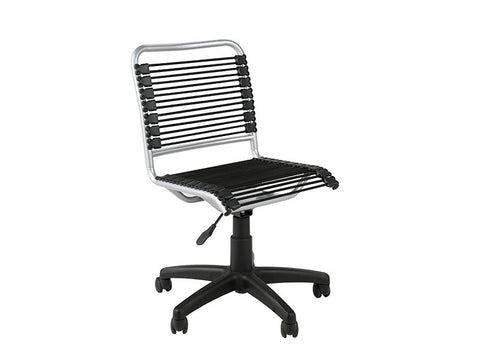 Black Bungee Office Chair with Aluminum Frame