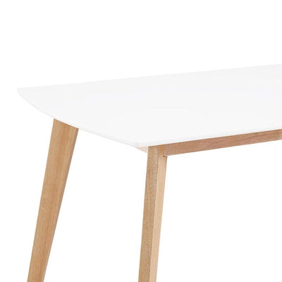 "60"" White & Natural Wood Office Desk"