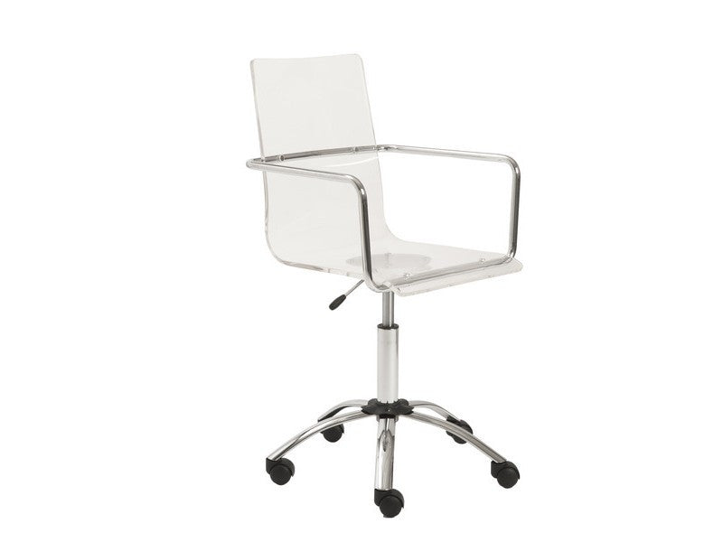 Uber Modern Clear Acrylic Office / Conference Chair With Chrome Accents
