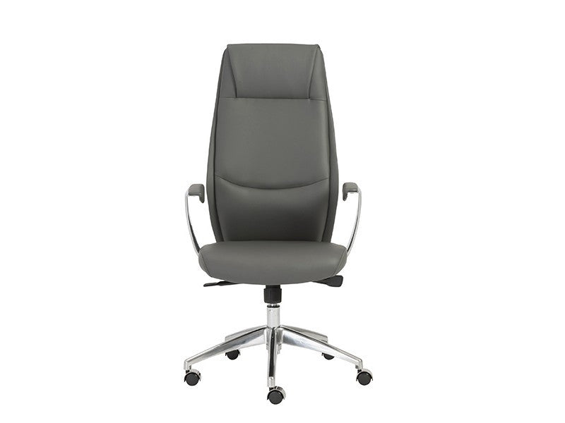 Crosby Collection Modern Gray High Back Office Chair