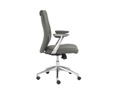 Crosby Collection Modern Gray Leather Office Chair