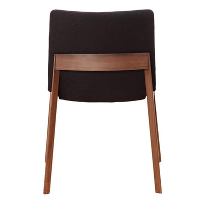 Walnut Guest or Conference Chairs with Black Padded Seat (Set of 2)